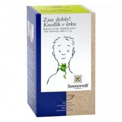 Knedlík v krku bylinný čaj...
